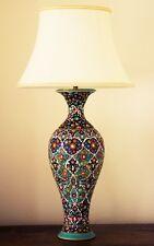 Grande Unico Persiano fatto a mano tradizionale COLORATO IN CERAMICA ARTISTICA Lampada da tavolo