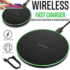 Qi Fast Wireless Charger Pad Charging Mat Phone Holder Dock For Mobile