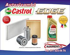 KIT TAGLIANDO OLIO MOTORE CASTROL EDGE 5W30 5LT+4 FILTRI VW GOLF V 1.9 TDI