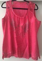 Tredy Bluse Tunika Shirt Top Strass rot pink froop Flügel Krone Gr. 42 44 46