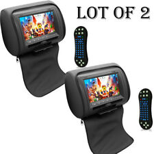 "2) Pyle PL74DBK 7"" Hi-Res Headrest Video Display Monitor Built-in DVD,USB,Remote"