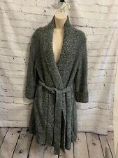 Carolyn Taylor Grey Sweater Coat Size L