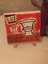 Home Decoration - 4x4 mini painting with easel
