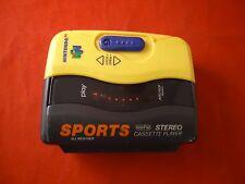 Nintendo 64 Walkman Yellow N64 Promo Sports Cassette Player *NON WORKING*