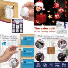 Magnetic Cabinet Locks Baby Safety - 4 Child Baby Lock Adhesive No Drill Hidden