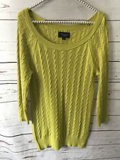 American Eagle Green Sweater Cable Knit Large