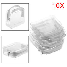 10 x HOLIDAY AIR TRAVEL BAGS - Clear Plastic Airline Airport Bag UK