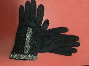 Vintage ladies Cocktail, Evening gloves, formal, Burlesque size 7 1/2 50s, 60s