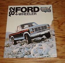 Original 1982 Ford Truck 4-Wheeler Sales Brochure 82 4x4 Pickup