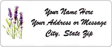 "30pcs Personalized Lavender Return Address labels 1""x2.625"" Free USA Shipping"