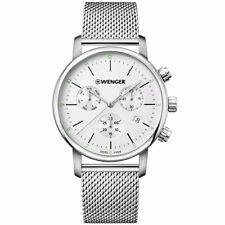Wenger Men's Watch Urban Classic Chronograph Silver Dial Bracelet 01.1743.106