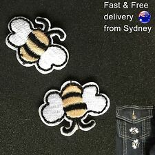 Busy Bees Iron on patch 2 pack sweet honey bee embroidery iron-on patches set