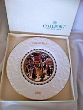 """Coalport China - """"XMAS EVE"""" - Christmas 1976 1st Collector Plate Made in England"""