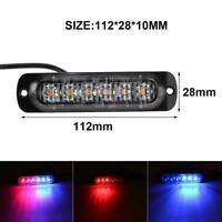 12-24V 6LED Slim Flash Light Bar Car Vehicle Emergency Warning Strobe Lamp