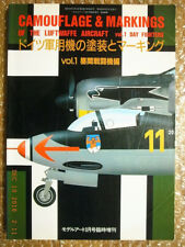 GERMAN DAY FIGHTERS CAMOUFLAGE, PICTORIAL BOOK, MODEL ART SP #308 JAPAN