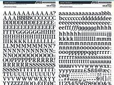 MECANORMA Transfer Lettering Sheet A3, Letraset, #445 ISBELL MEDIUM 13mm