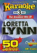 CHARTBUSTER KARAOKE CDG  LORETTA LYNN (5076)  3 DISC BOX SET  50 TRACKS   NEW