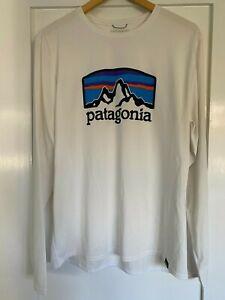 Patagonia Men's Long-Sleeved Capilene Cool Daily Graphic Shirt, Medium, White