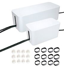 Cable Management Systems,Two Boxes. Include Cord Organizer Clips & Wire Ranging.