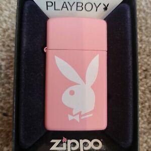 Zippo Lighter Genuine Slim Pink Playboy Lighter