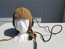 WW2 German Luftwaffe Summer Cloth Flight Helmet Size 67 LKp S 101 MFG Hersteller