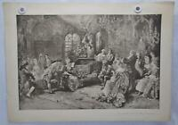 "Vincente V de Paredes ""Mozart at the Court of Marie Antoinette"" Lithograph Print"