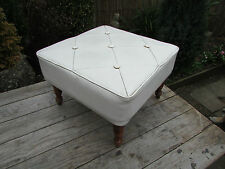 Faux Leather Vintage/Retro Ottomans & Footstools