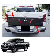 Rear Tailgate Outer Lid Cover Black Red 1Pc For Mitsubishi L200 Triton 2015 - 17