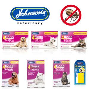 Johnsons 4fleas Tablets for Cat Kitten Dog Puppy Starts Killing Fleas in 15 Mins