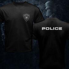 Israeli Police IDF Israel Army Elite Defence Forces Hebrew Black Men T-Shirt
