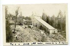 Murchie Mine Nevada County CA 1907 RPPC Real Photo Postcard