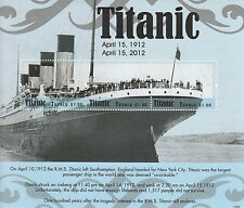 Tuvalu 2012 Mnh Titanic 3v m/s Rms Iceberg sinking boats buques Náutica