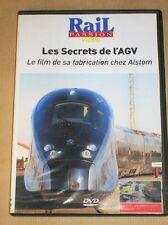 RARE DVD DOC / RAIL PASSION / LES SECRETS DE L'AVG CHEZ ALSTOM / TRES BON ETAT