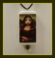 Mona Lisa Cat Domino Necklace - Classic - With Matching Gift Box