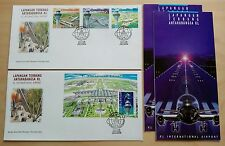 1998 Malaysia KLIA Airport 3v Stamps & MS on 2 FDC (Kuala Lumpur Cachet)