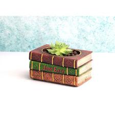 Vintage Book-Shape Succulent Flower Cactus Plant Bed Pot Case Garden Planter