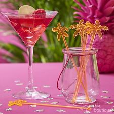 PALM TREE DRINK STIRRERS - Cocktail Sticks - Summer Garden Party / Tropical BBQ