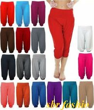 WOMENS LADIES CASUAL BASIC 3/4 LENGTH ALIBABA CROP HAREM LEGGINGS PLUS SIZE 8-24