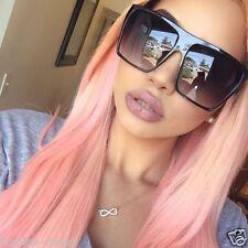OVERSIZED Sunglasses Lauren Women Lady Flat Top Big Huge Sunnies Gafas SHADZ