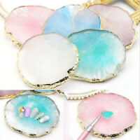 Natural Resin Stone Display Board Palette Tray Nails Ring Earrings Showing Tool
