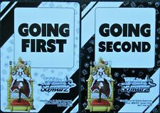 WEISS SCHWARZ PROMOTIONAL CARD GOING FIRST - GOING SECOND CARDS 2 CARDS - 1 each