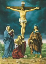 Catholic Print Picture Jesus on Cross Mary St. John - ready to be framed