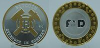 1oz Bitcoin BTC .999 Silver Cold Hard Wallet BTC Round Coin Strength in Numbers
