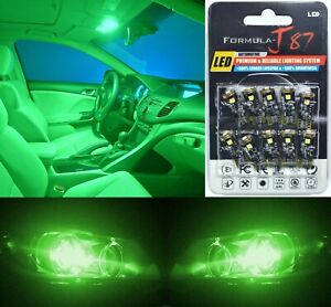 Canbus Error LED Light 194 Green Ten Bulbs Interior Step Door Replacement OE JDM