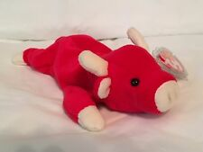 TY Beanie Baby - SNORT the Red Bull -Pristine with Mint Tags -PE Pellets RETIRED
