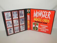 Custom Made Monster Laff Midgees Trading Card Album Binder