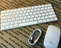 GENUINE APPLE WIRELESS MAGIC KEYBOARD & MOUSE 2 *2nd Gen Rechargeable Version*