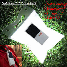 Solar Waterproof LED Inflatable Travel Outdoor Folding Night Light Flashlight