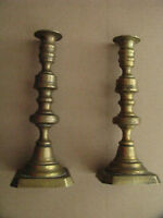 CIVIL WAR ERA  BRASS CANDLESTICKS