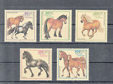 6022 ) Germany 1997 ** / MNH  - Charity Stamps Horses of 5 beautiful Stamps